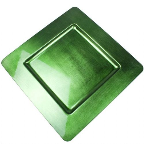 GREEN Square Charger Plate / Underplate